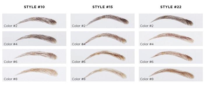 Kunstwenkbrauwen Echt Haar